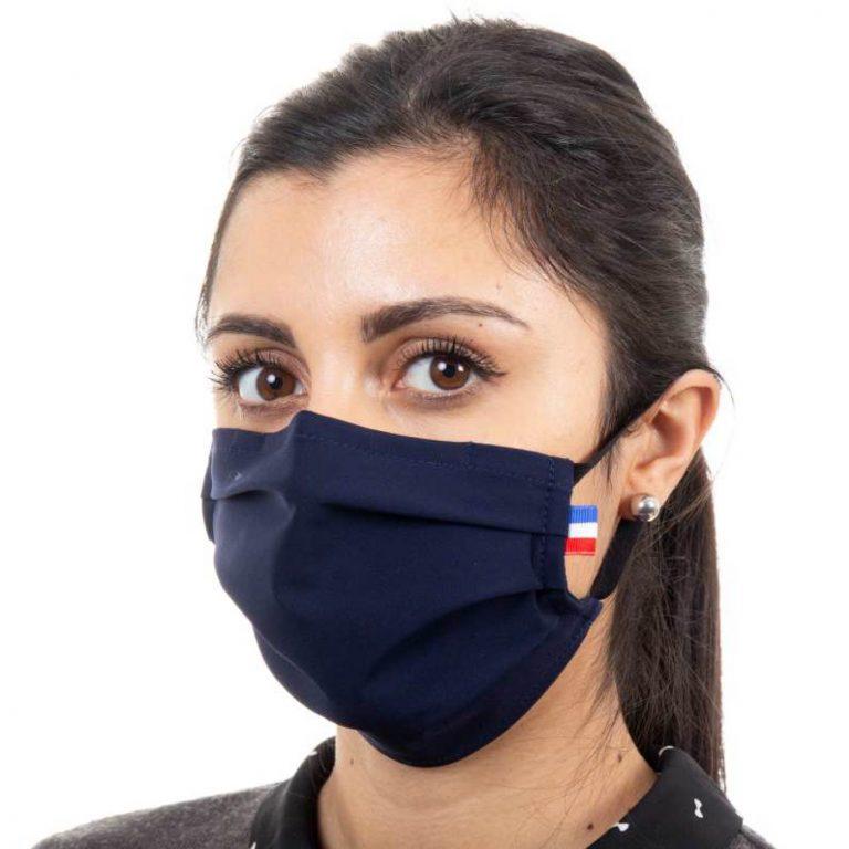 Masque de protection respiratoire en tissu - Couleur bleu marine