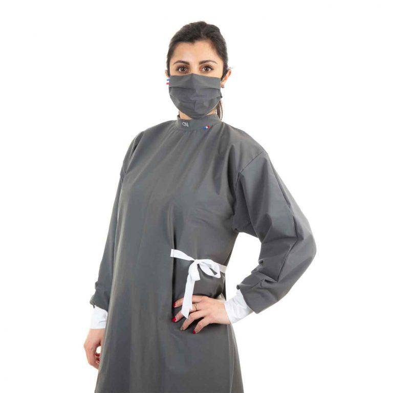 Blouse de protection médicale - Couleur grise