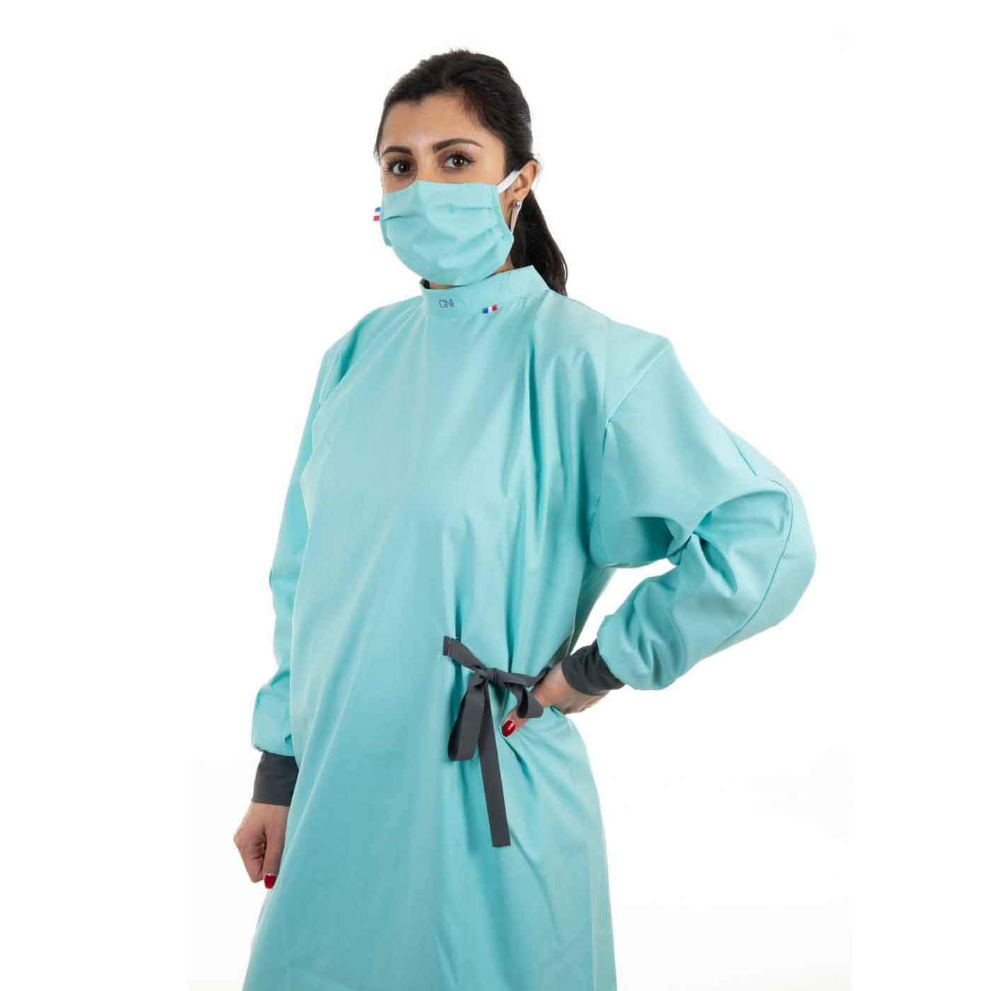 Blouse de protection médicale - Couleur vert lagon