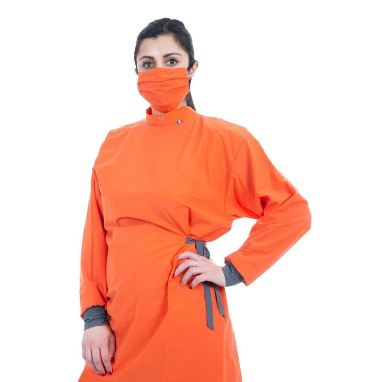 Blouse de protection médicale - Couleur orange