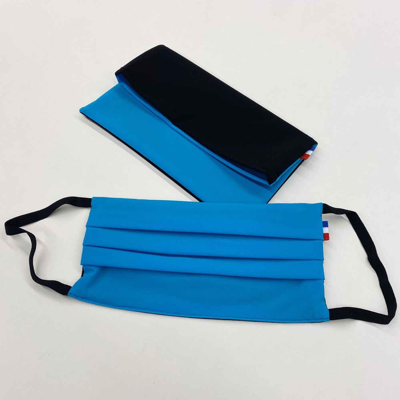 pochette-masque-de-protection-respiratoire-tissu-couleur-bleu