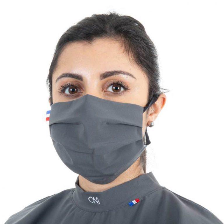 Masque de protection respiratoire en tissu - Couleur gris