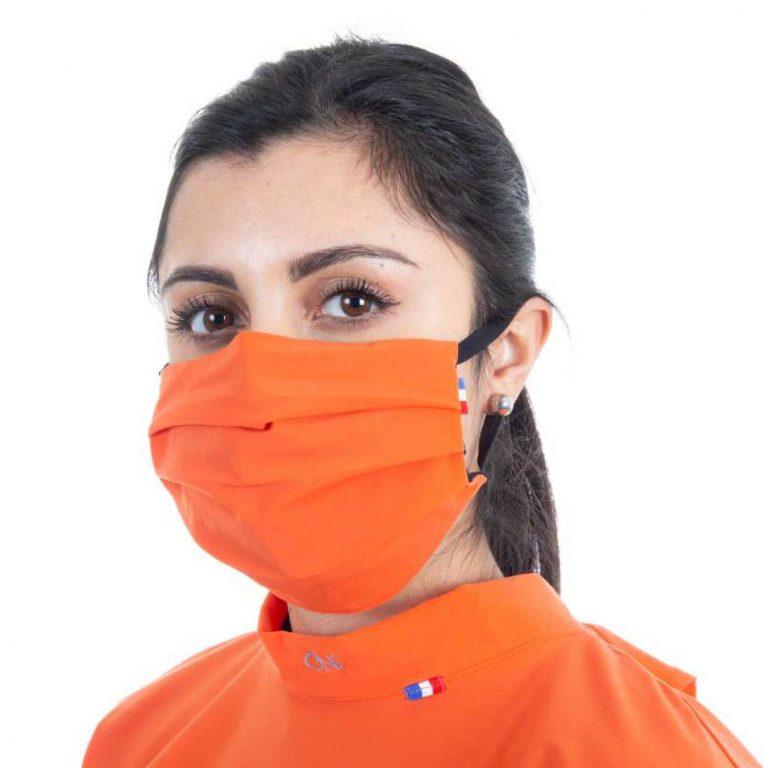 Masque de protection respiratoire en tissu - Couleur orange