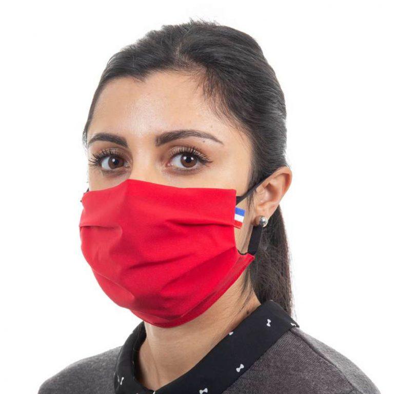 Masque de protection respiratoire en tissu - Couleur rouge